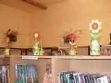 Práce vystavené v knihovně